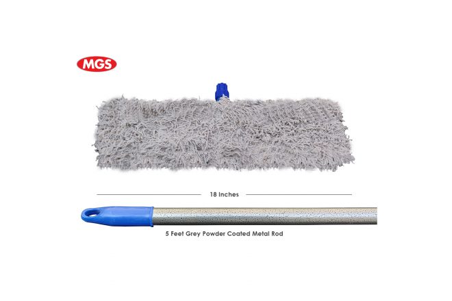 18 Inches Simple Dry Mop with 5 Feet Metal Rod,Dry Mop, Simple Dry Mop