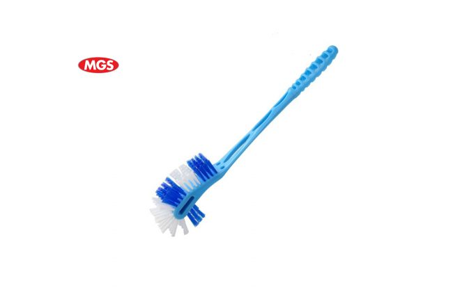 Toilet Brush, Double Action Toilet Brush, V-shaped Toilet Brush