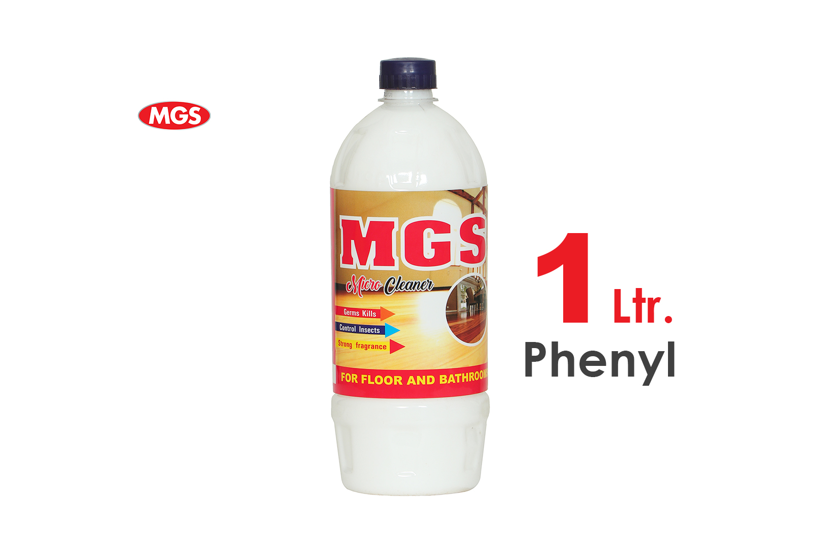 MGS Phenyl 1 Ltr. Micro Cleaner For Floors and Bathrooms